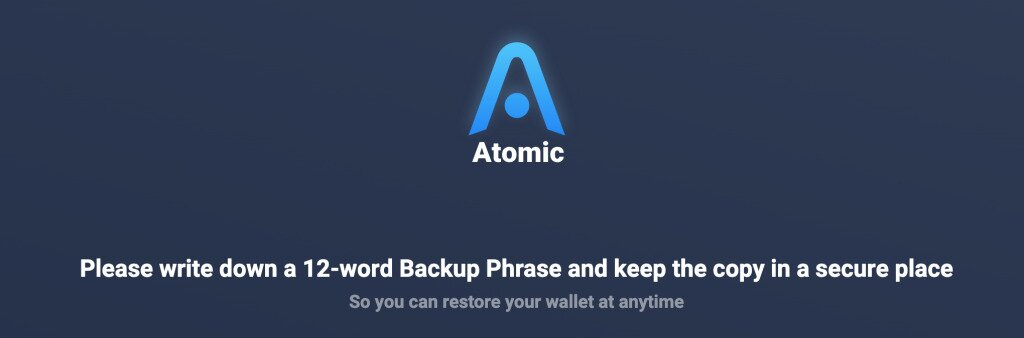 Atomic Wallet 12-word backup phrase