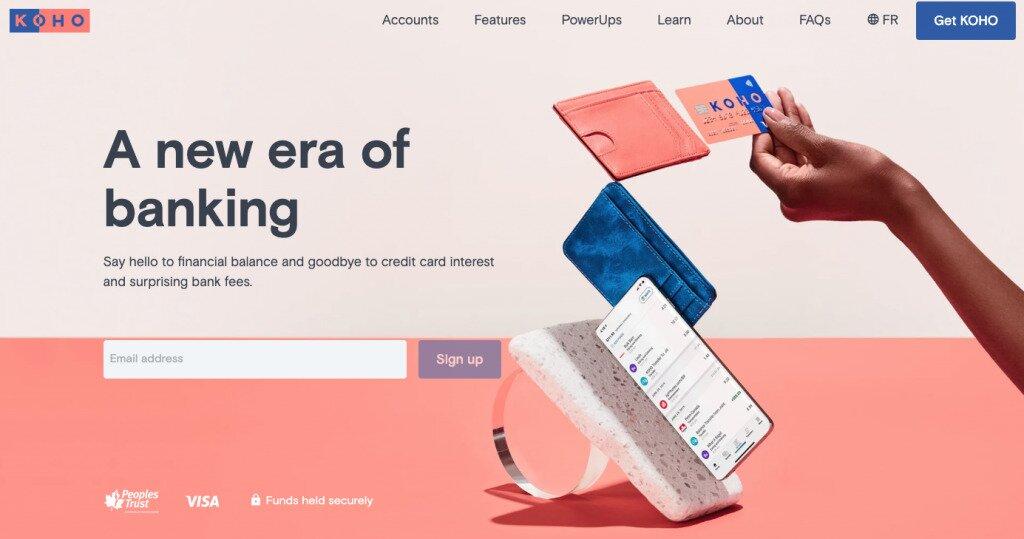 Screenshot of KOHO Homepage