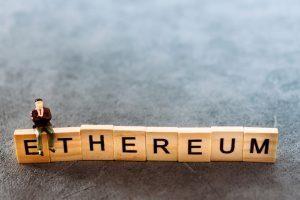 Ethereum spelled in scrabble tiles