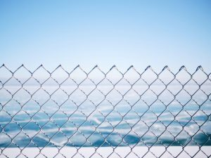 chainlink fence above the world