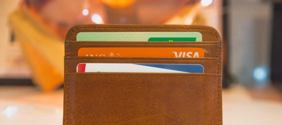 VISA cards in wallet
