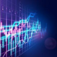 Stock market financial growth chart