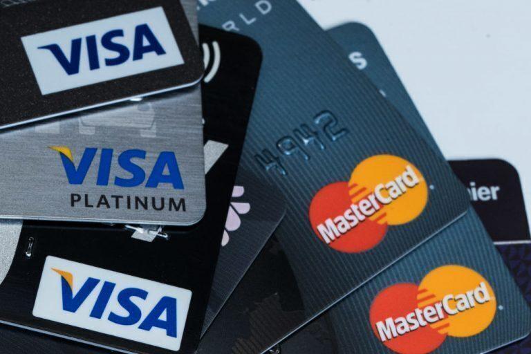 Visa & Mastercards stacked